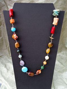 semi-precious stones necklace.