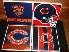 Chicago Bears coasters