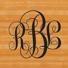 "Wedding Dance Floor Monogram Decal 39""x36"" on Etsy, $49.00"