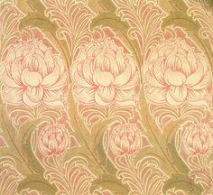 Victorian Voysey wallpaper design