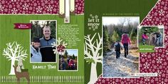 Winter Wonderland  2-page Scrapbook Layout from Creative Memories