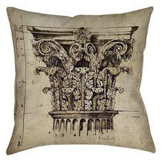 Column II Indoor/Outdoor Throw Pillow