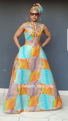 African Print Maxi Dresses @nedim _designs  +27829652653 African Dashiki Dress, African Blouses, African Maxi Dresses, Shweshwe Dresses, Ankara Dress Styles, African Attire, African Wear, African Inspired Fashion, African Print Fashion