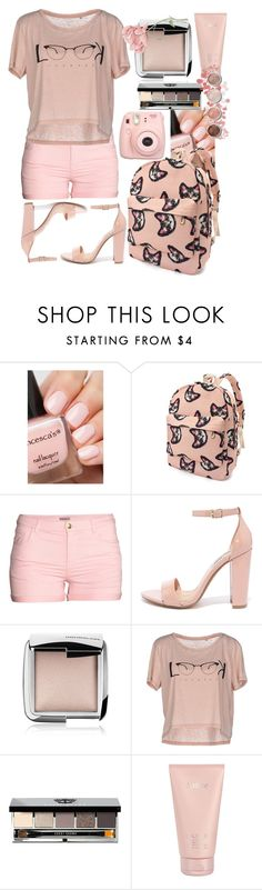 """""""pretty."""" by bluechrysalis ❤ liked on Polyvore featuring H&M, Steve Madden, Hourglass Cosmetics, ONLY, Bobbi Brown Cosmetics, Lalique and Terre Mère"""