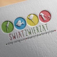 Logo dla Sklepu Zoologicznego Świat Zwierząt