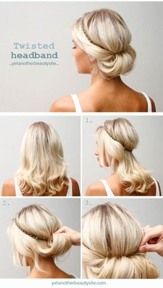 Twisted headband in 3 easy steps