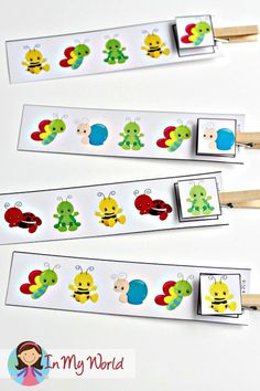 FREE Spring Preschool Centers clip the correct pattern activity