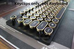 104 keys Golden Steampunk Round Plated Keycap Key caps for Mechanical Keyboard. Type: keycap. But most of the keys can fit all kinds of mechanical keyboards. Note: it's only keycaps not keyboard. Fit for Mechanical Keyboards Mounted with Cherry mx rgb Switches. | eBay!