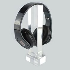 Acrylic Headphone Stand Display / Headset Hanger, Fit Audio-Technica, Bose QC3, QC2, QC15, AE, AE2, AKG K518, K518, K81, Sennheiser, JVC, Philips, Monster Beats, Ultimate Ears, Parrot Zik, Logitech DJ, Gaming Headset and Many Mid-Sized Earphones