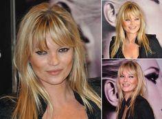 Kate Moss- Best celebrity fringes - fringe hairstyles