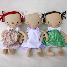 Billie Anne PDF pattern.  These make me wish my girls were still little and wanted dolls.
