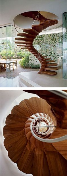 Certainly, there is something especially mysterious and hypnotizing about spiral staircases, their free lines and swan-necks. These stairs keep inspiring modern designers and photographers from different countries and we have prepared a portion of astonishingly beautiful, stylish and surely mysterious photos for you to marvel! #Staircase ideas for your house.