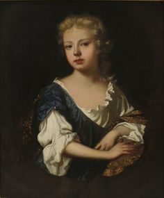"Sarah Jennings, the subject of this portrait had a close childhood friendship with Princess Anne. In 1673, she entered the household of Anne's father, the Duke of York, to serve Princess Anne's stepmother. It is likely the portrait was painted during her time of servitude. In 1677, Sarah became Duchess of Marlborough when she married John Churchill. Peter Lely, (Dutch born English, 1618-1680), ""Sarah, Duchess of Marlborough as a Girl"", ca. 1690, Oil on canvas, Gift of Arthur I. Appleton"