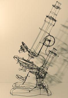 Martin Senn, wire sculpture