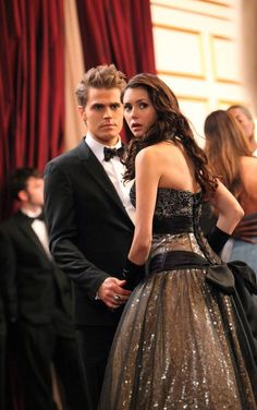 Stefan Salvatore and Elena Gilbert.......