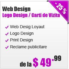 Web Design, Logo Design, Print Design, Reclame publicitare www.4seo.ro