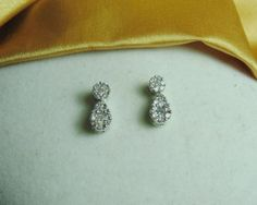 Stunning .50 CT Diamond Pave 14k White Gold by BuccaneerTrading, $400.00