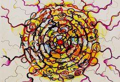 Мандала #Сомнойвсетак! По следам одноименного вебинара. запись вебинара можно посмотреть на сайте www.школа.я-графика.рф #нейрографика #яграфика #арт #art #творчество