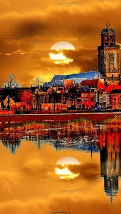 Deventer, Overijssel, Netherlands.Zo mooi is Nederland