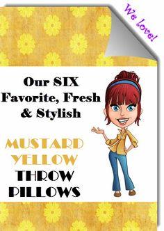Mustard Yellow Throw Pillows On Pinterest Mustard Yellow