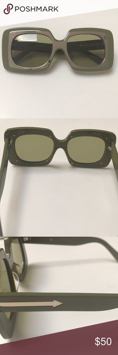 Karen Walker Sunglasses Never been worn sunglasses. Authentic Karen Walker. Has a very slight scratch on the interior of the frames- see pic for details. Karen Walker Accessories Sunglasses
