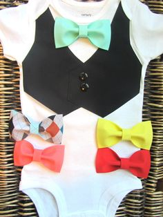 Baby Boy Clothes - Boys Bow Tie - Boys Christmas Outfit - Boys First Birthday - Coming Home Outfit - Baby Tuxedo - Boys Wedding Outfit by SewLovedBaby on Etsy https://www.etsy.com/listing/188533264/baby-boy-clothes-boys-bow-tie-boys