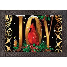 Great for indoor or outdoor use, this floor mat adds a #welcoming touch of decoration anywhere you place it. Features a red cardinal perched in the middle of the...