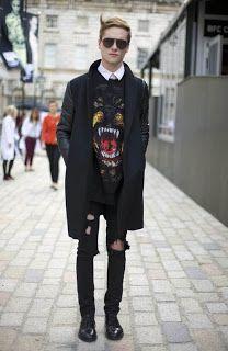 Inspiration: Men Street Style #okulary #streetstyle www.optykwnecie.pl/