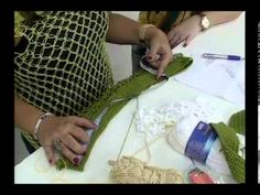 blusa em ponto segredo com camila fashion parte 2 16.01.2013 - YouTube
