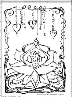 This Zenspirations Dangle Design Is From A Page Of My New Flower Coloring Book Adult