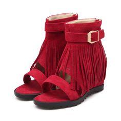 Fringe Flat Sandals on Luulla