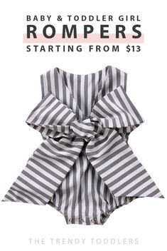 Up to 70% OFF + free shipping! SHOP super comfy and cute baby girl rompers at thetrendytoddlers.com