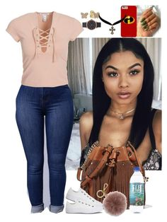 """""""Untitled #3493"""" by astoldby-kay ❤ liked on Polyvore featuring NLY Trend, Diane Von Furstenberg, MICHAEL Michael Kors, Converse, Pandora, Charlotte Russe and Marc Jacobs"""