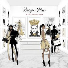 Congrats Megan Hess Illustration on the opening of your 1st Boutique in the luxury wing of Westfield London!