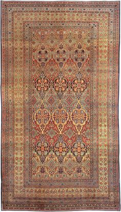 View this beautiful Antique Kerman Persian Rug 1220 from Nazmiyal's fine antique rugs and decorative carpet collection.