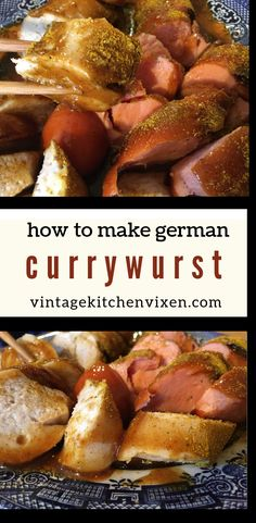 German Currywurst for Oktoberfest German currywurst recently marked its anniversary, and it's no small wonder why! This convenient and delicious street food can be found everywhere you go in Germany. No Oktoberfest party should be without it! Oktoberfest Outfit, Oktoberfest Food, German Oktoberfest, Bratwurst, Brunch Recipes, Dinner Recipes, Dinner Ideas, German Sausage, Sausage Dogs