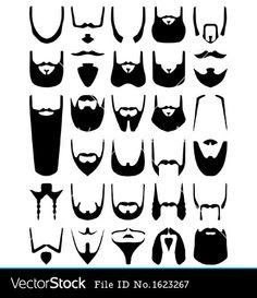 http://www.vectorstock.com/composite/1623267/beard-silhouettes-vector.jpg