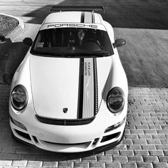 Cool Black & White Photography Porsche GT3 RS