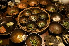 Picture of South Korea temple food, taken by Eric Brunstad, 2007.