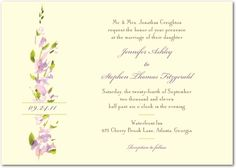 Vintage look and feel. Again, need response card and envelope, private reception card, directions, and place cards