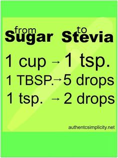 How to convert a recipe from sugar to stevia