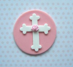 Edible Cupcake Topper Fondant First Comunion by thesweetshop911, $10.50