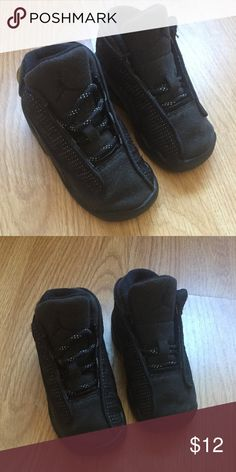 2390485fe7a8eb Shop Kids  Jordan Black size Sneakers at a discounted price at Poshmark.  One need a new shoe lace
