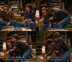 that show,danny masterson,topher grace Best Tv Shows, Favorite Tv Shows, Movies Showing, Movies And Tv Shows, That 70s Show Quotes, Thats 70 Show, Funny Memes, Hilarious, Let Me Love You
