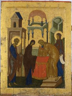 Meeting of the Lord, catalog of St Elisabeth Convent. Christian World, Christian Art, Russian Icons, Byzantine Icons, Black History Facts, Orthodox Icons, Medieval Art, Illuminated Manuscript, Religious Art