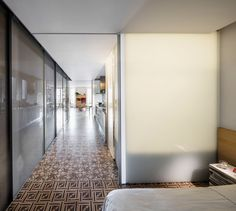 Barcelona apartment renovation by Narch revealing mosaic floors Barcelona Apartment, Apartment Renovation, Decorative Tile, Spanish Style, Architecture, Exterior Design, Indoor, House Design, Flooring