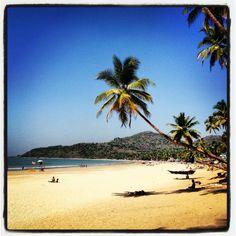 Palolem Beach in Kānkon, Goa