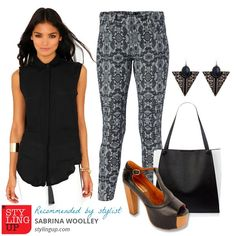 Styled by Sabrina Woolley. How to Wear Printed Trousers to Work - Styling Up Blog