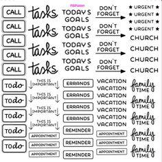 I don't like it when I print and my writing goes crooked in my planner...so made these so the lettering will always be perfect! #erincondrenplanner #pinksugardesigns #PSDPlanner #plannerfun #planneraddict #plannerstickers #stickershop #kikkikplanner #kikkik #plumpurpleplanner #plannernerd #filofax# by pinksugardesigns