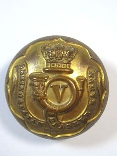 India: 5th Bombay Infantry original Large Victorian Officers Button. in…